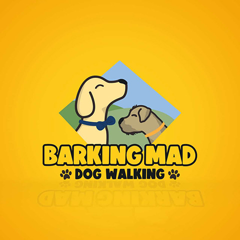 Barking Mad Dog Walking Logo