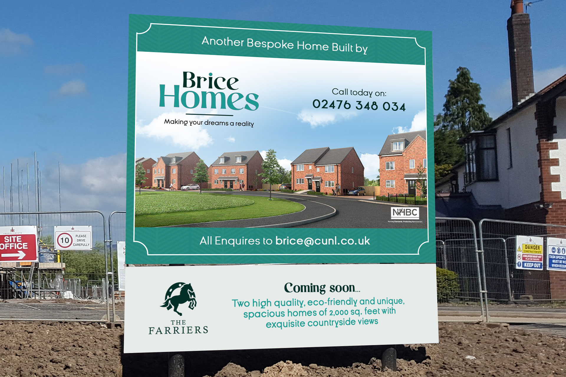 Brice Homes Outdoor Sign