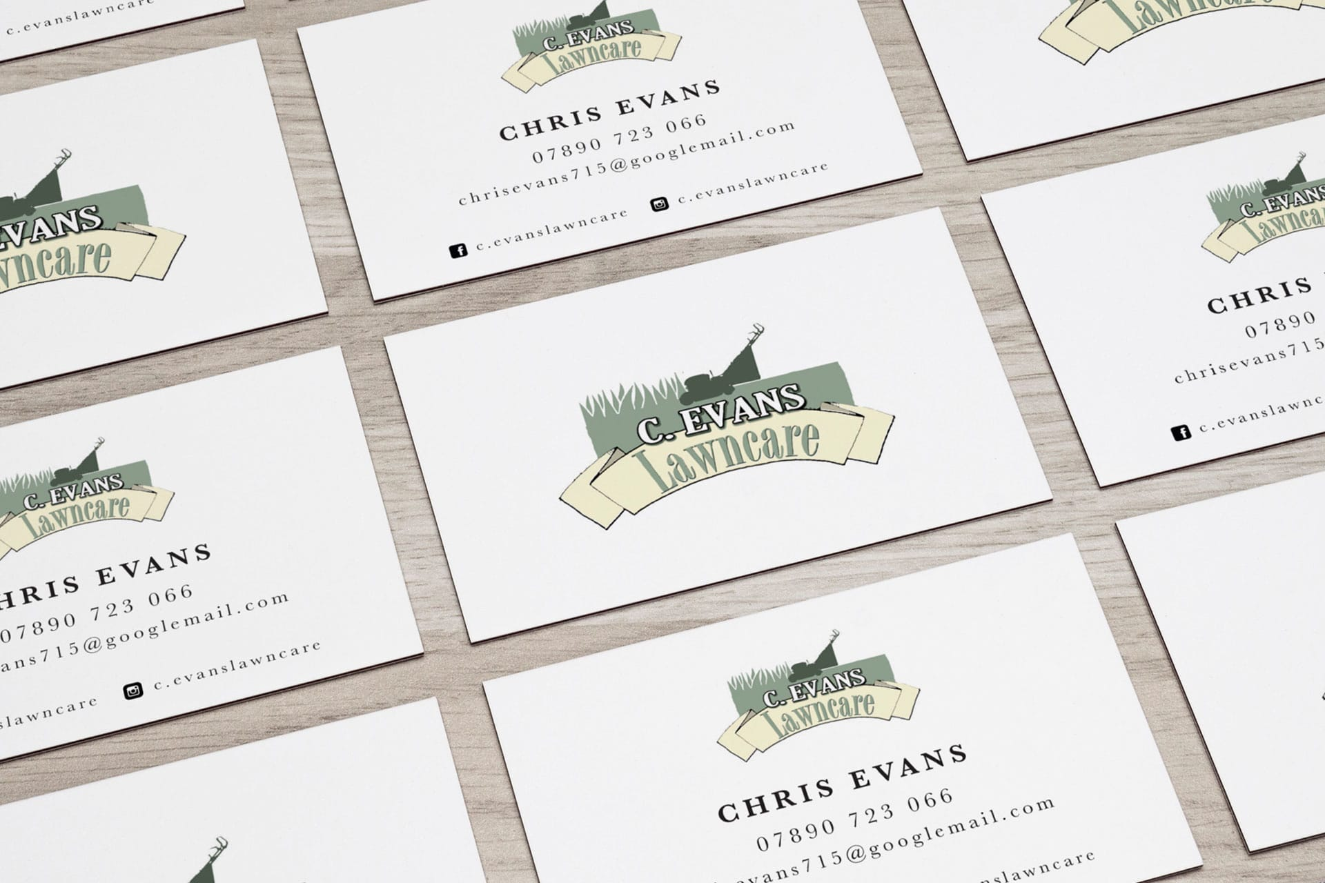 C.Evans Lawncare Business Cards