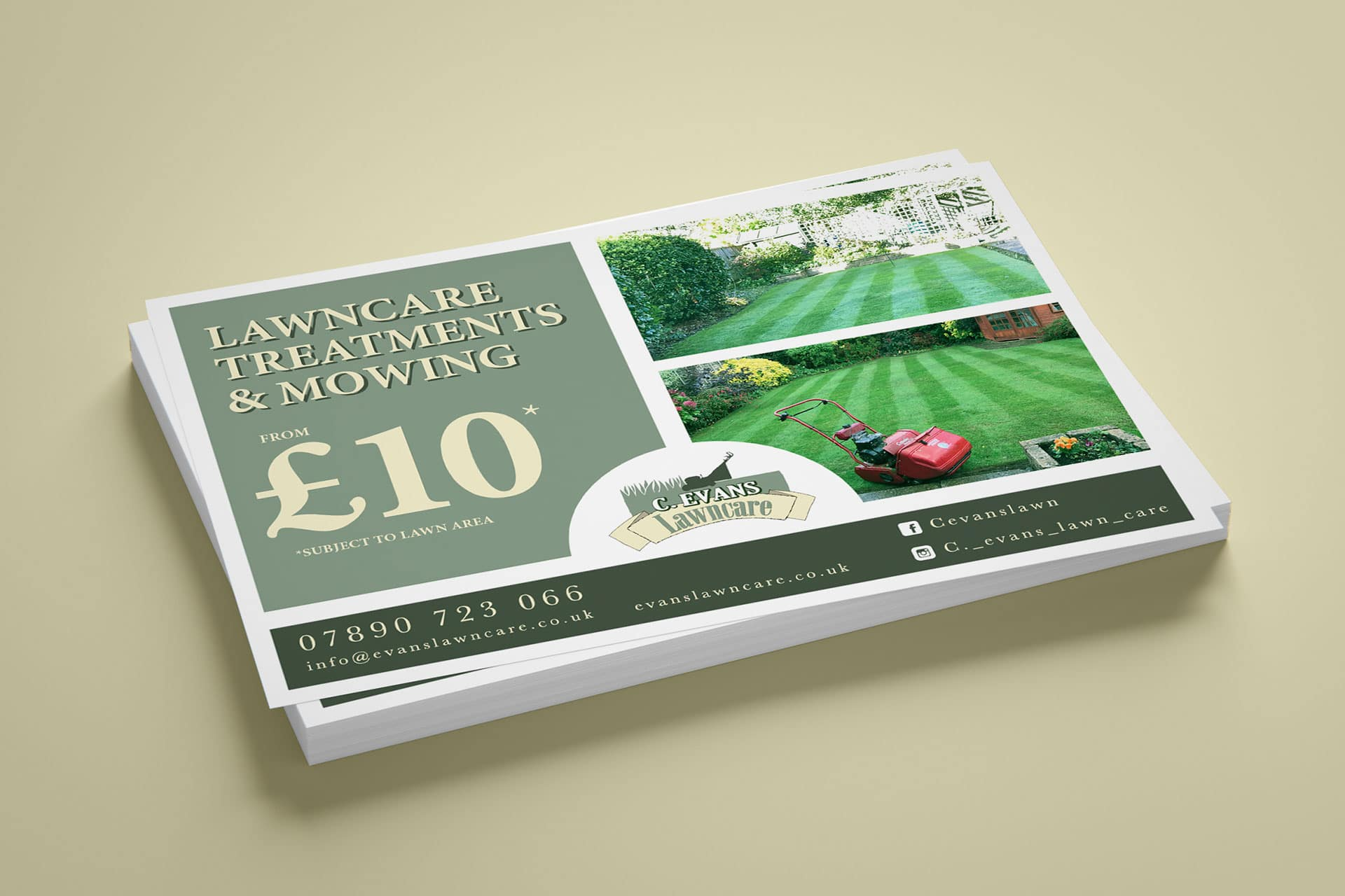 C. Evans Lawncare flyers
