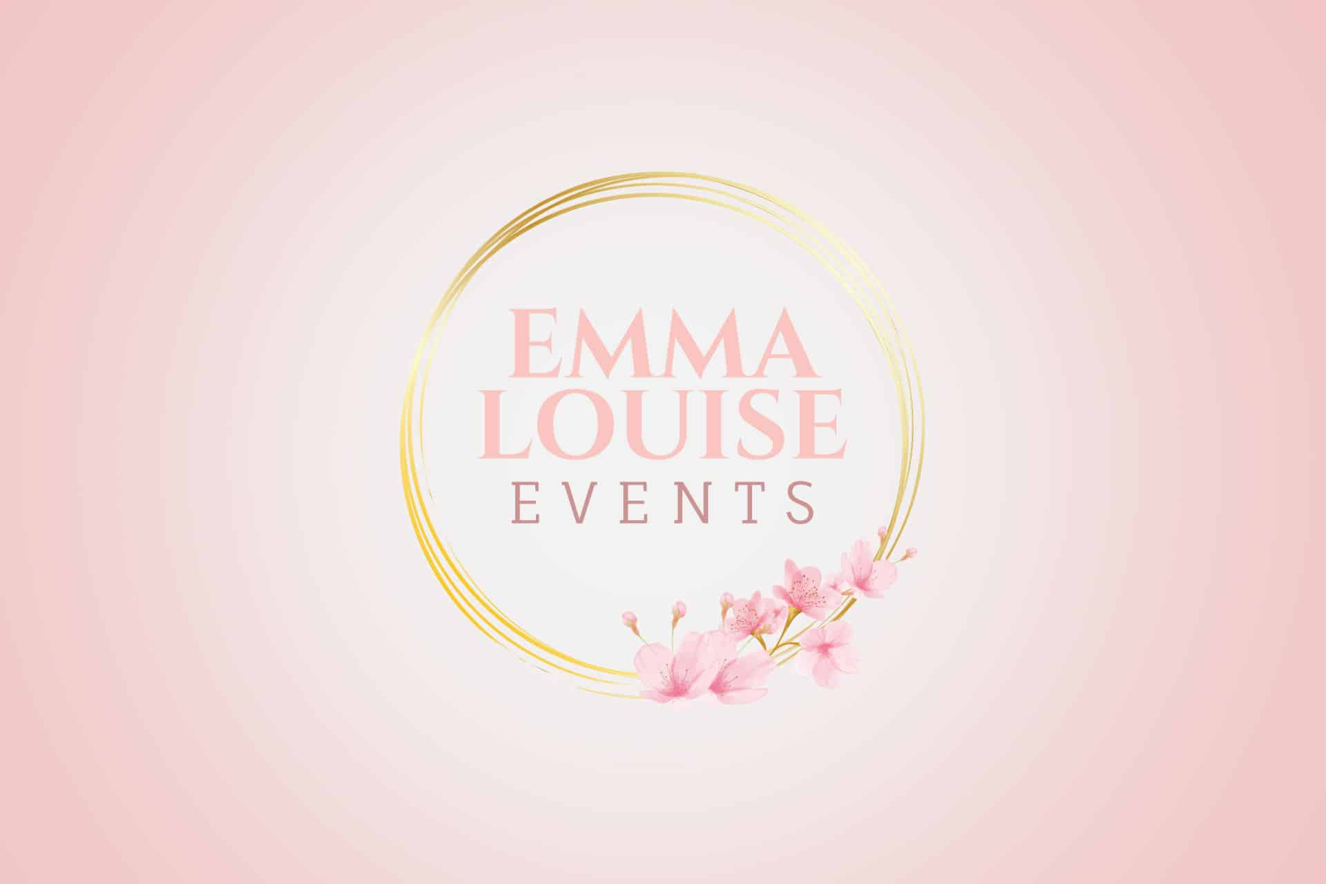 Emma Louise Events logo designed by Bulldog Snare