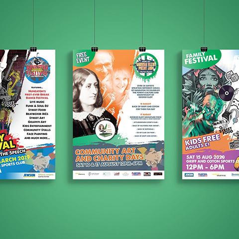 Nuneaton Urban Arts Festival Posters