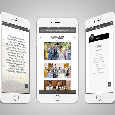 Tommy James Photography Mobile Website